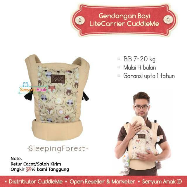 CuddleMe Lite Carrier Sleeping Forest Gendongan Bayi Cuddle Me LiteCarrier