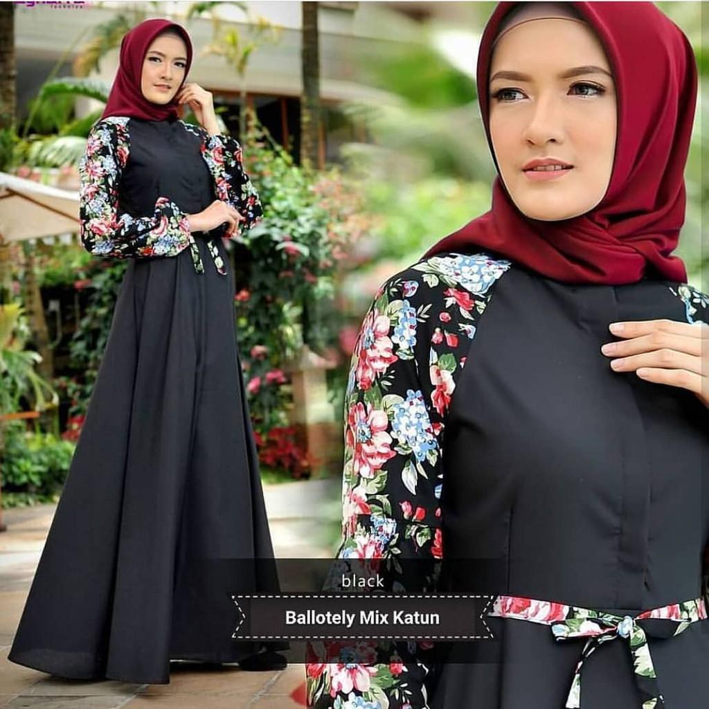 Dresscantik Pilih Warna Gamis Dress Baloteli Cantik 3 Shopee Indonesia Monalisa Merah Ut