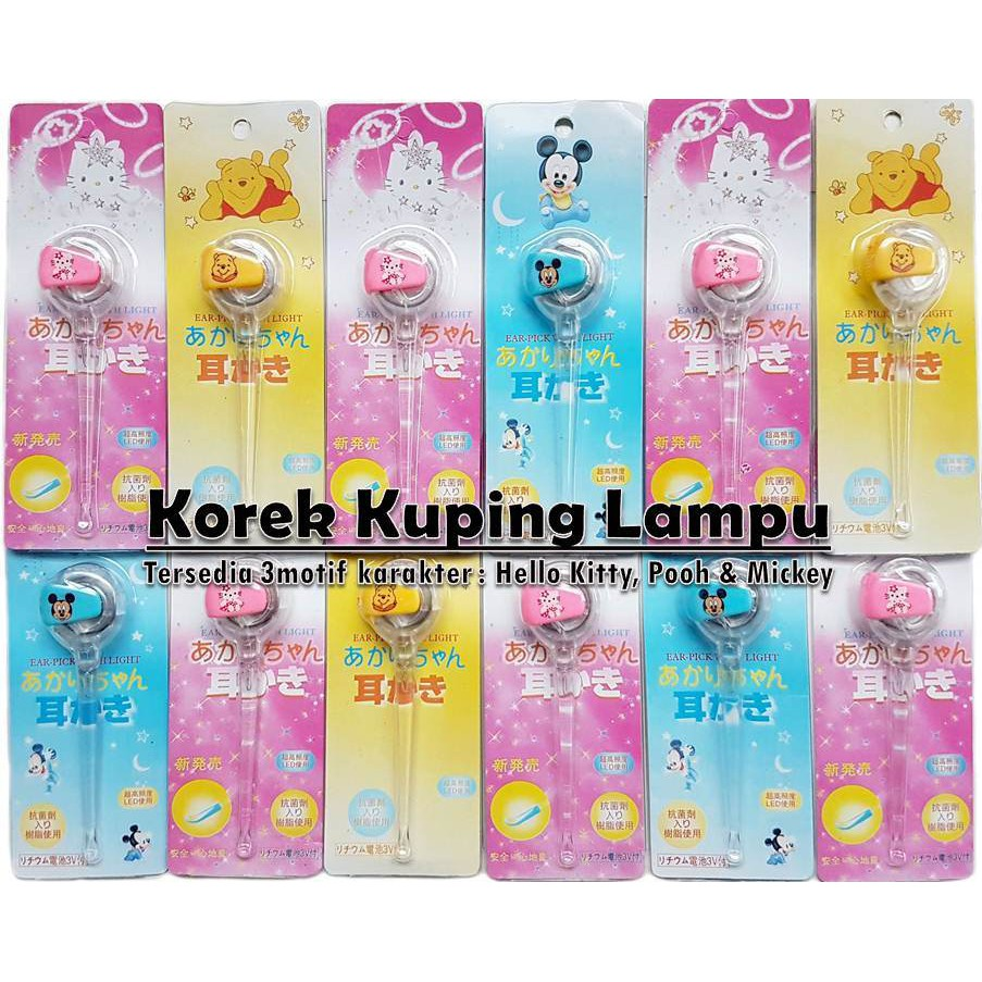 Korek Kuping Pembersih Telinga Bayi Anak Shopee Indonesia Flashlight Earpick Led Nyala
