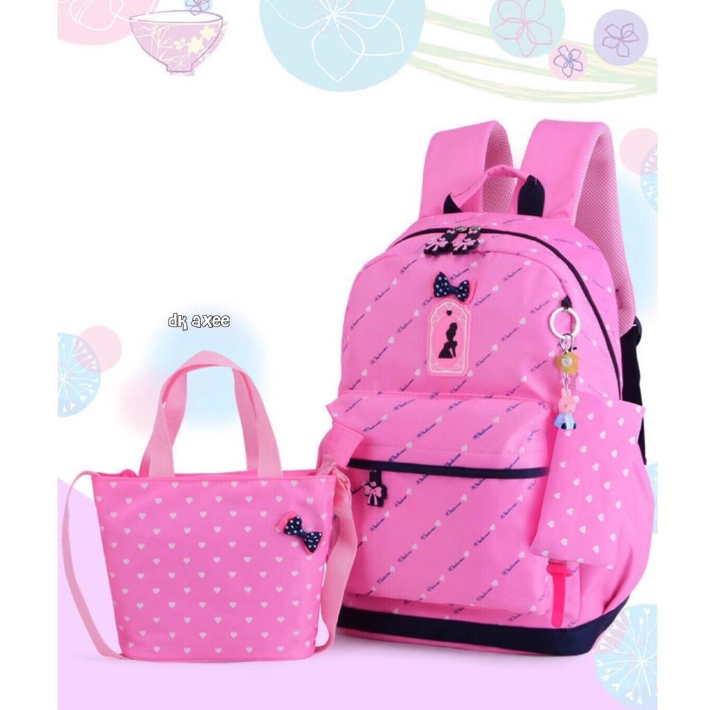 MGM READY !!! 15 Variasi Tas Anak Ransel kecil Sekolah Anak TK Karakter Panda Hello Kitty minion   Shopee Indonesia