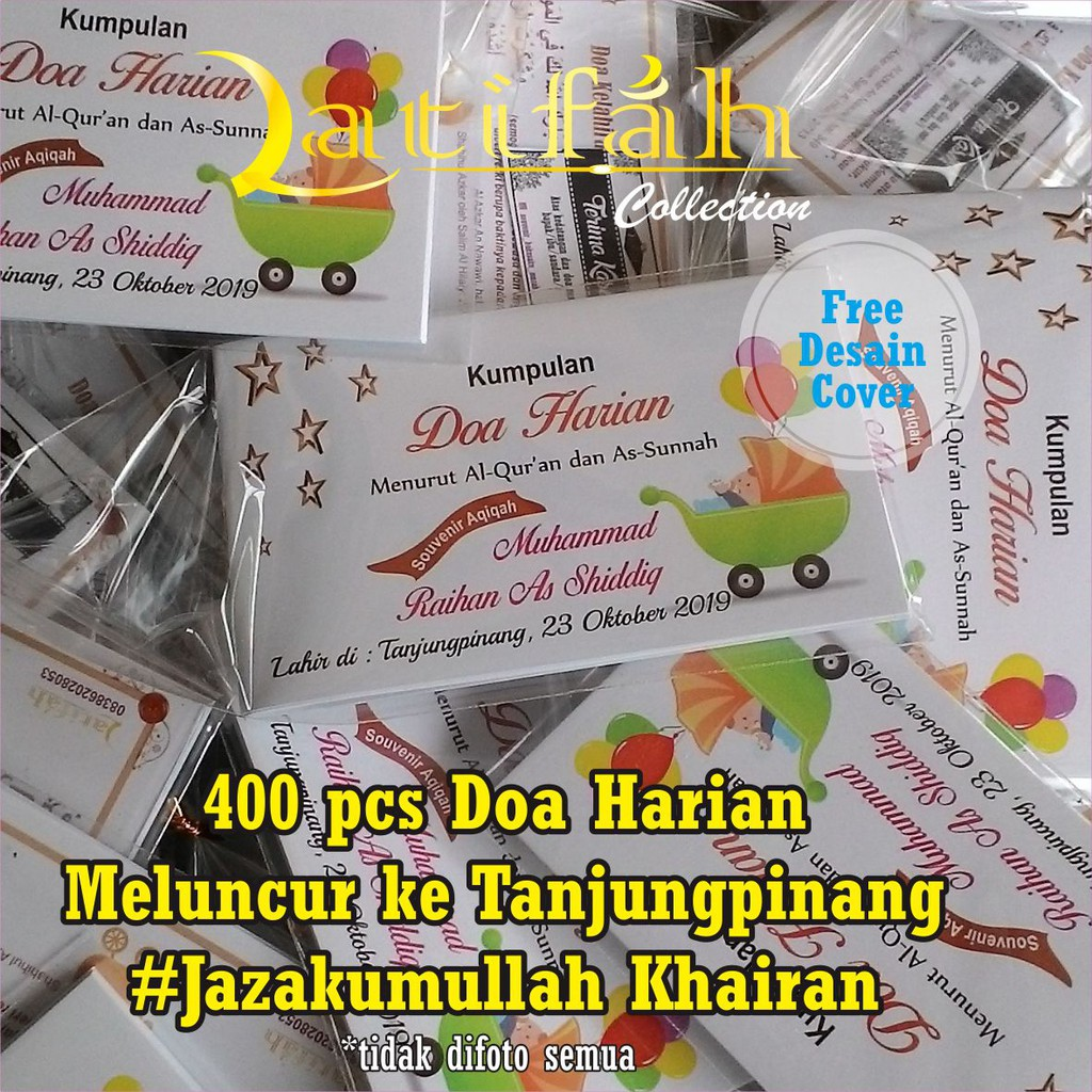 Souvenir Buku Saku Islami Kumpulan Doa Harian Dan Terjemahnya 6x10 Cm Free Desain Cover
