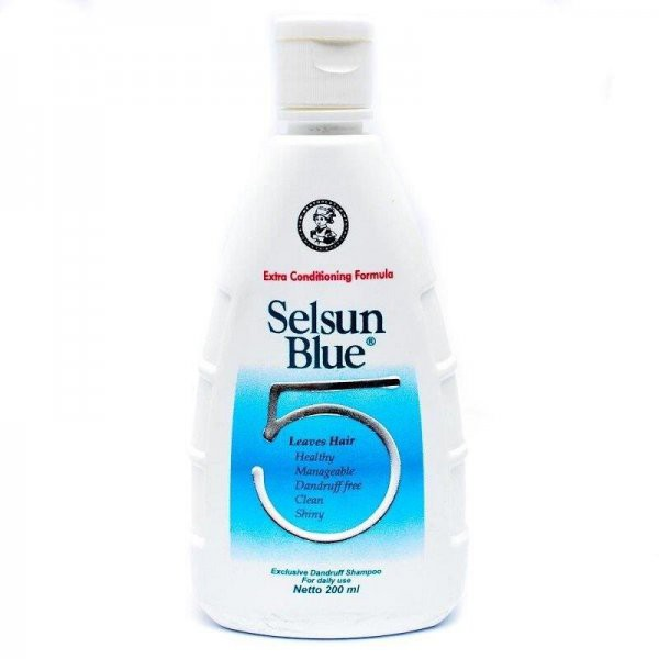 SELSUN Shampoo Conditioner Series / Sampo Anti Ketombe Blue 5 Yellow Gold 7 Herbal Flowers-SELS Blue Five 200ml