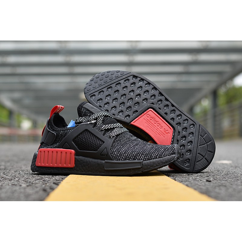 9257370afb773 Adidas NMD XR1 Grey Three  Solar Red Original
