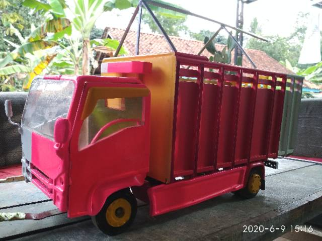 Miniatur Truck Oleng Isuzu Giga Nmr Scala Besar Shopee Indonesia