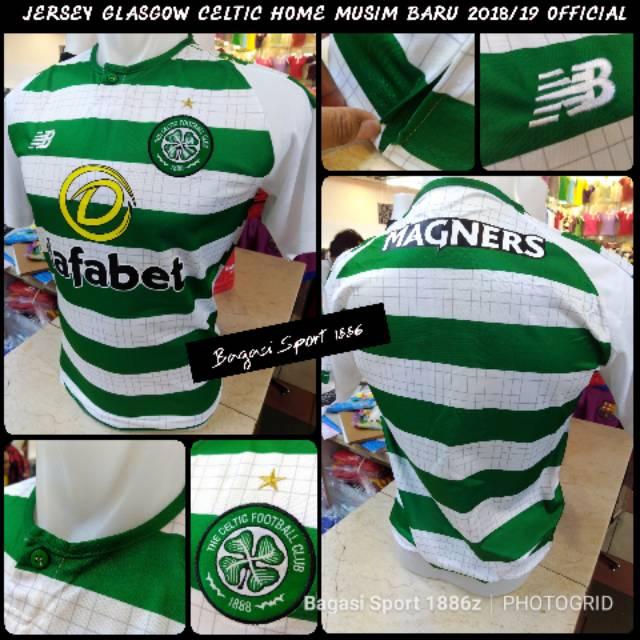 607a217da77 Jual Jersey Baju Bola Glasgow Celtic Scot Grade Ori GO Home Terbaru 2018  2019 18 19 new OFFICIAL   Shopee Indonesia