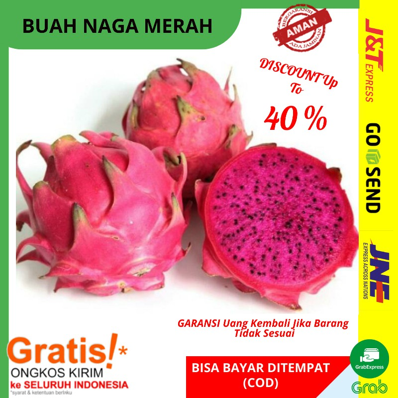 Buah Naga Merah Fresh 500gram Dragon Fruit Buah Buahan Segar Super Storeonlinetermurah Denpasar Shopee Indonesia