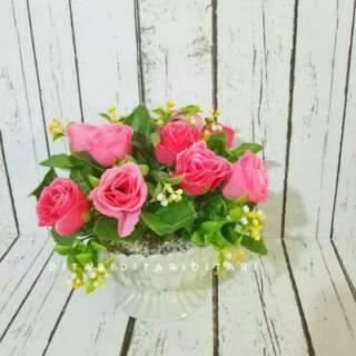 Bunga mawar plastik artificial palsu dekorasi bunga shabby chic 0a92bf1bff