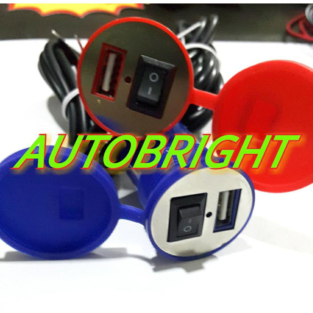 Usb Charger Hp Plus Voltmeter Vw Dudukan Stang Waterproof Shopee Volt Meter Led Cas Buat Semua Motor Indonesia