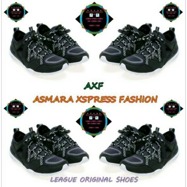 League Original Stride X River Lifestyle Shoes Sepatu Lari Pria - Nine Iron  - Red Putih  b87f4d611d