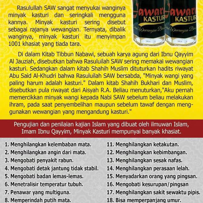 Produk Terlaris Parfum Minyak Kasturi Jawara 3Ml