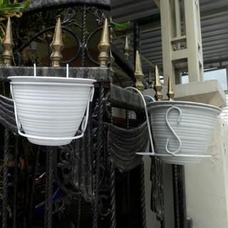 rak bunga besi gantung pagar pot ukuran 20cm murah meriah