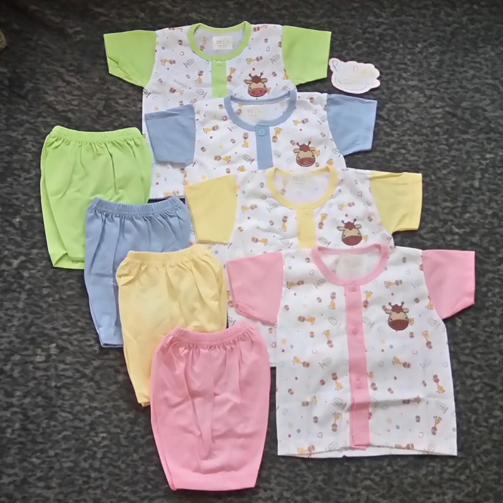 Mkspy55 Setelan Baju Panjang Bayi Motif Jerapah Arimbi Piyama Spy46 Newborn Poppy Tidur Shopee Indonesia