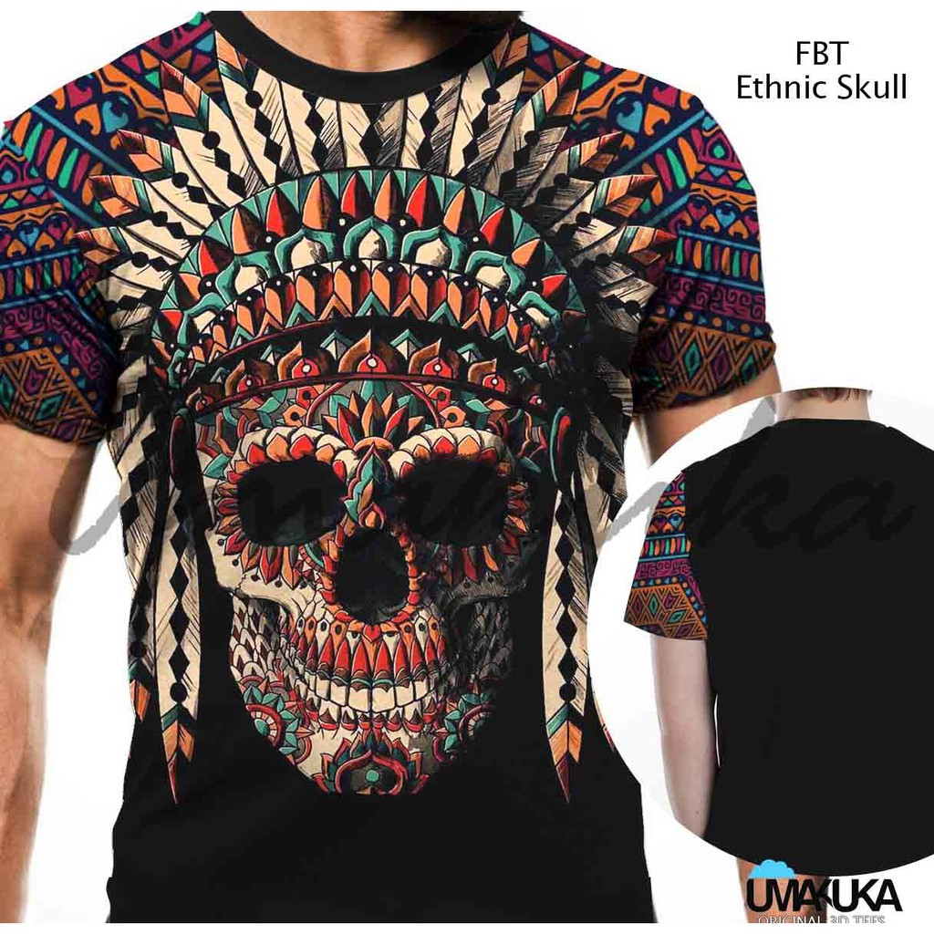 Kaos Cowo Ayala Ethnic Shopee Indonesia Pria Lengan Pendek Cabanna Black Floral Shirt