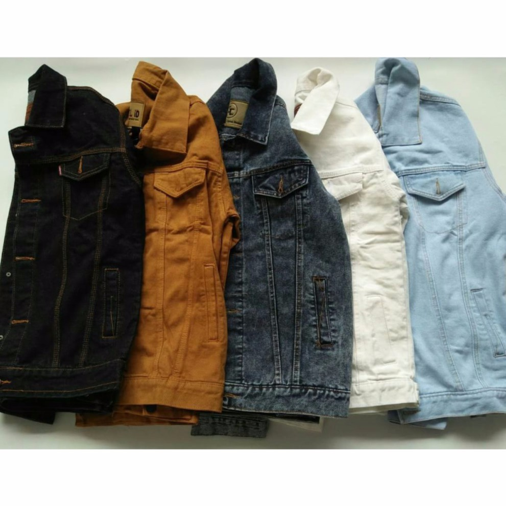 Denim Jaket Jeans Sandwash Oversize Snowblack Snowblue Acid Premium Levis Merah Maroon Warna Jacket Unisex Shopee Indonesia