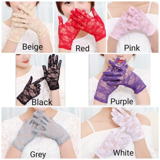 SARUNG TANGAN PENGANTIN BRIDAL WEDDING GLOVES WG07