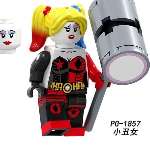 Sz4699 Pg1857 Harley Quinn Lego Minifigure Brick Pg8211 Shopee Indonesia