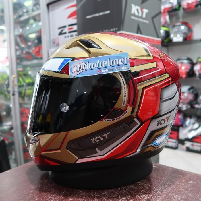 [Helm motor] KYT K2rider Iron Man Flat Visor Dark