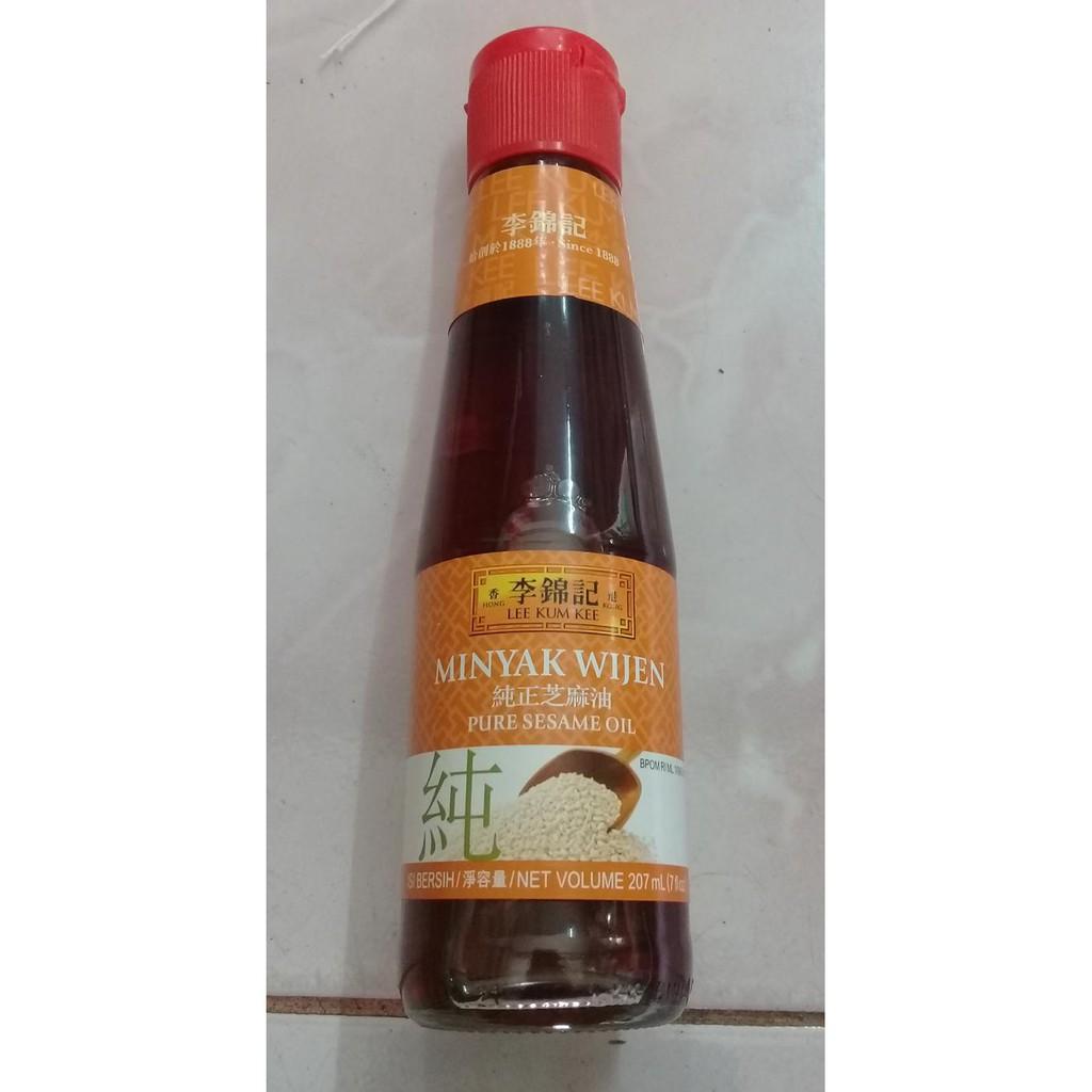 Lee Kum Kee Pure Sesame Oil Minyak Wijen 207 Ml Shopee Indonesia Goreng Filma 2 L Pounch