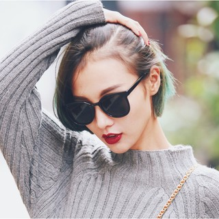Gelas kacamata cermin datar Stylish Clear Lens Ladies Metal Frame Flat  Sunglasses 4d9cb45238
