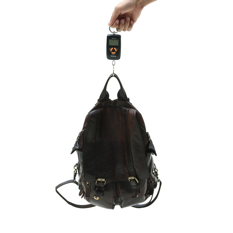 45Kg//10g Portable Digital Backlight Black Fish Luggage Hanging Hook Scale