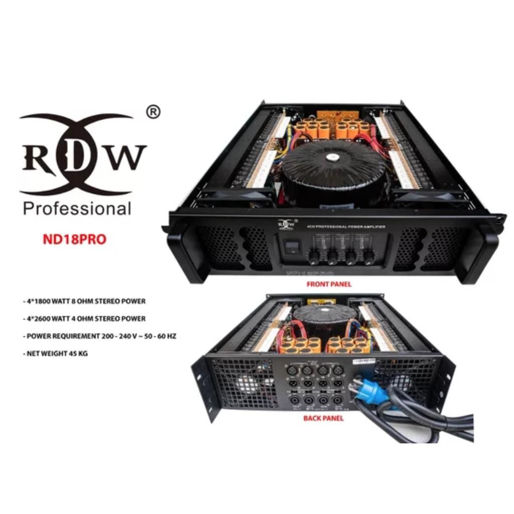 Power Amplifier RDW ND18PRO ND 18PRO ND 18 PRO Original 4 Channel