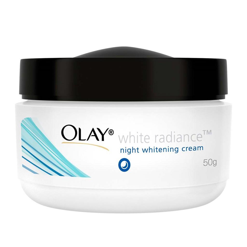 Habisin Stock Olay White Radiance Night Whitening Cream Krim Malam Olay Whitening Termurah Promo | Shopee Indonesia