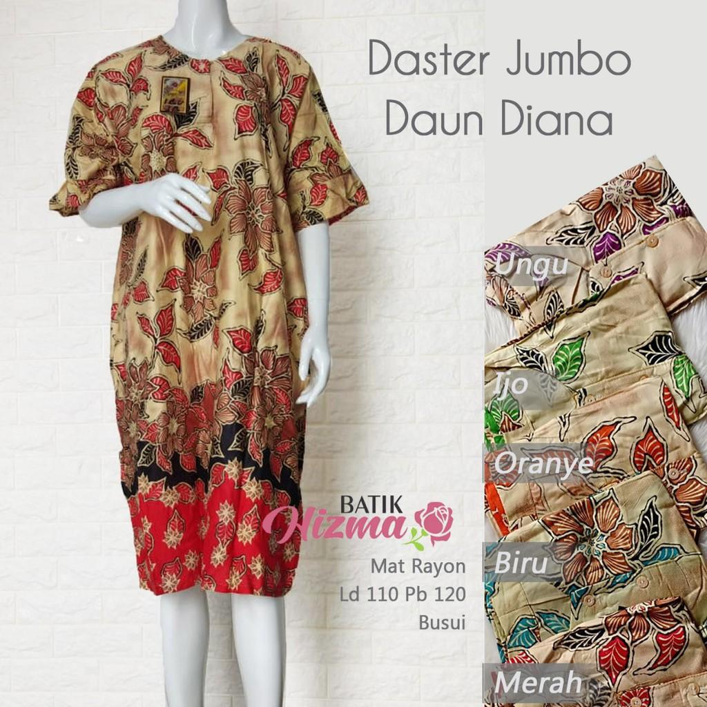 Grosir Baju Daster Batik Premium Wanita Busui dan Daster Hamil Jumbo Murah  Berkualitas Daun Diana  6a63640dab