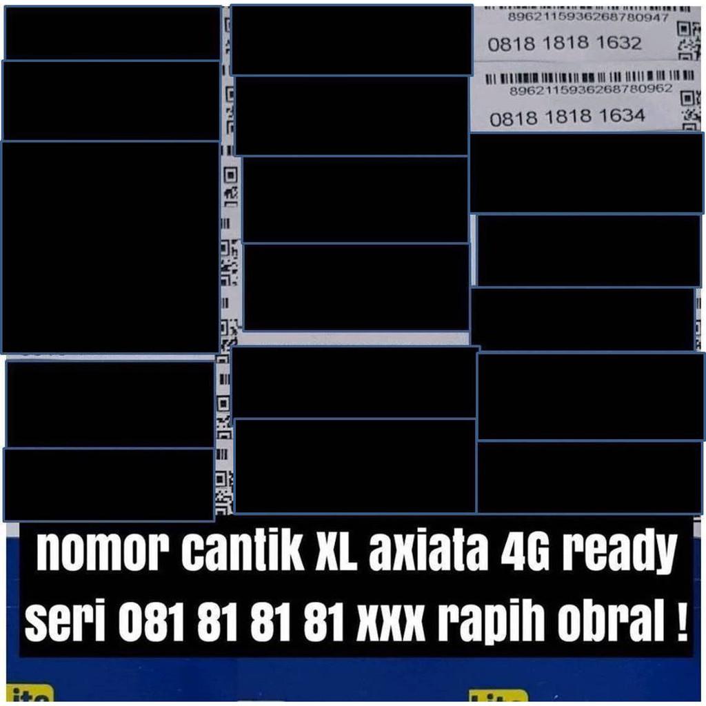 Kartu perdana nomer cantik XL axiata 4G ready nomor pilihan rapi obral   Shopee Indonesia