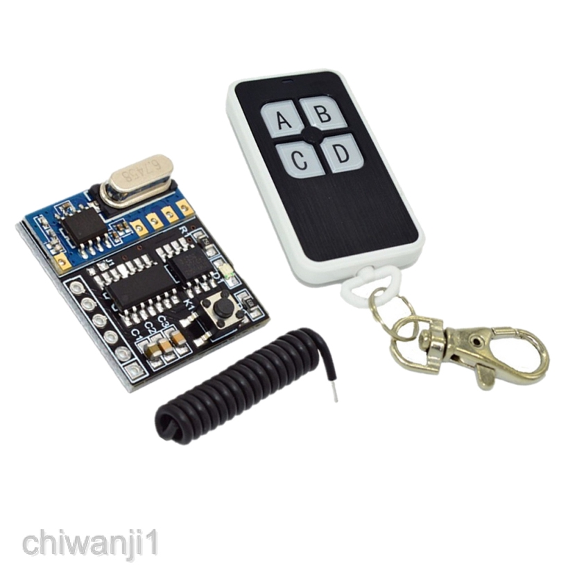 4-Key Remote Control 4.5-5.5V 3mA 433MHz 4-Channel Wireless Receiver Module