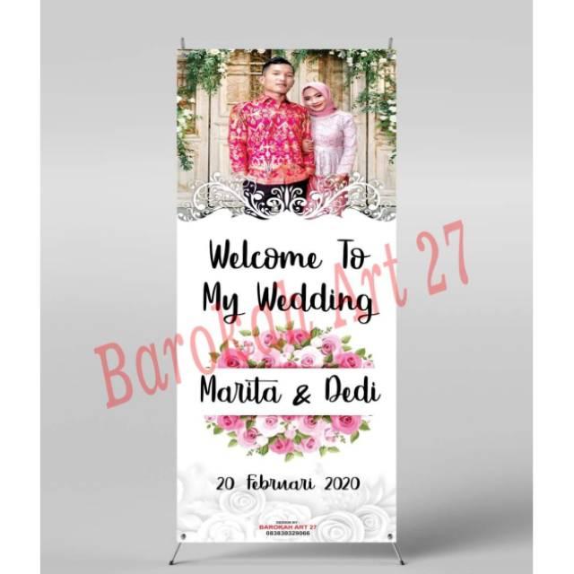 Ukuran Banner Selamat Datang Pernikahan Desain Spanduk Kreatif