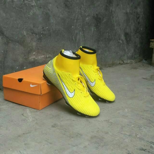 Sepatu bola Nike Mercurial boots black grade Ori murah bagus ... a856ba40b9