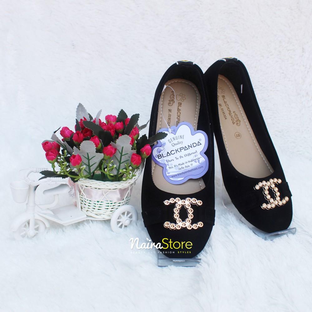 Black Panda Shoes Sepatu Balet Terbaru Kanaya Black Shopee Indonesia