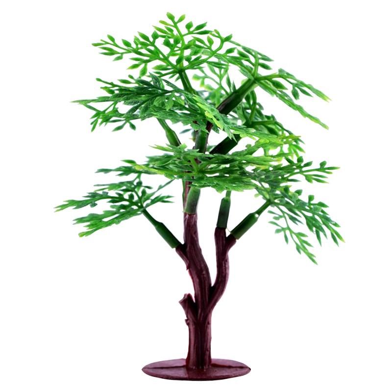 Tang Tuo Mini Bebatuan Pohon Kelapa Ornamen Mikro Dinding Lanskap