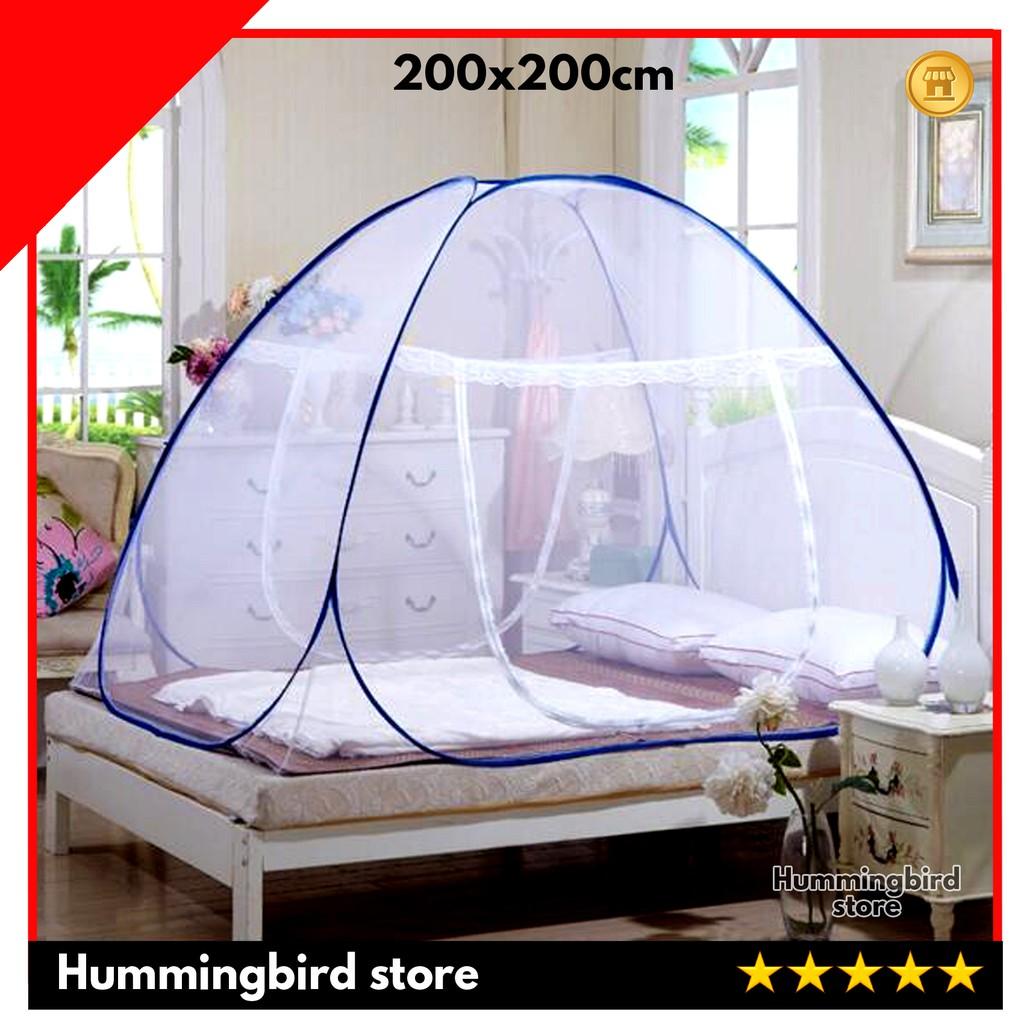 Kelambu Lipat Anti Nyamuk Tenda 180x200cm 2 Pintu Tidur Shopee Indonesia