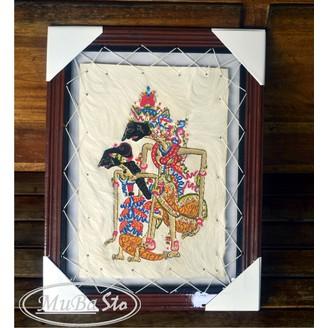 Lukisan Handmade Wayang Rama Shinta Kulit Kambing Asli Hiasan Dinding Kaligrafi Gratis Pack Shopee Indonesia
