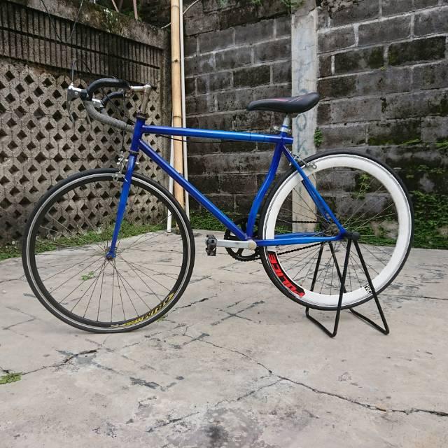Roadbike Semi Hybrid Fixie Custom Biru Shopee Indonesia