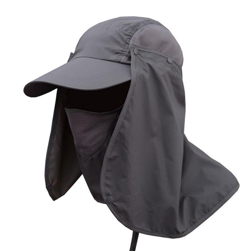 Bucket Bonnie Hat Brim Sun Neck Cover Flap Cap Hunting Fishing Hiking Gardening