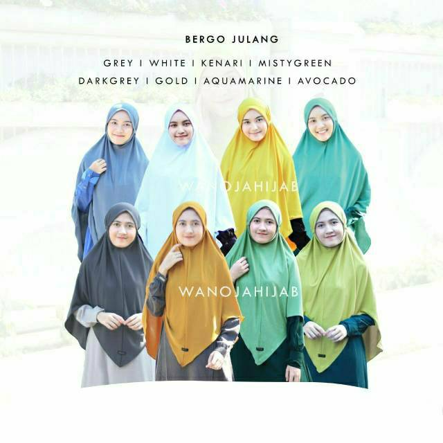 Bergo Julang Pastel Series Wanoja Hijab Bergo Non Pet Tali Shopee Indonesia