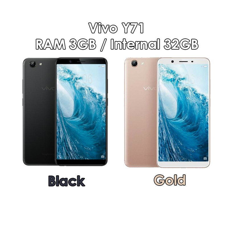 Vivo Y71 Ram 3gb Rom 32gb 3 32 Black Gold Baru New Resmi