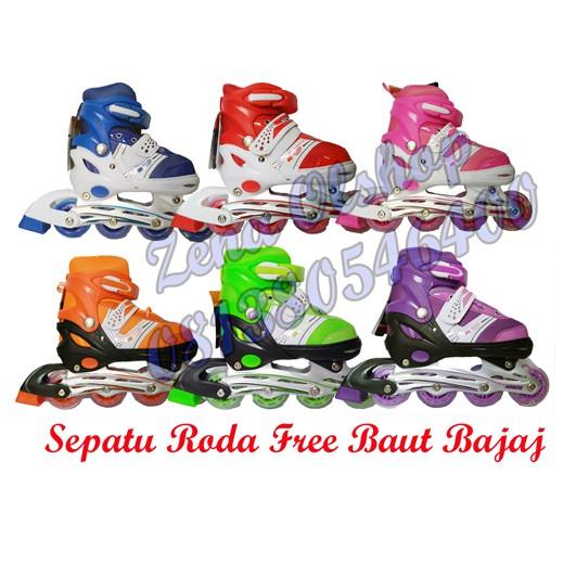 Sepatu roda inline skate + dekker + helm satu set  39f690e9da