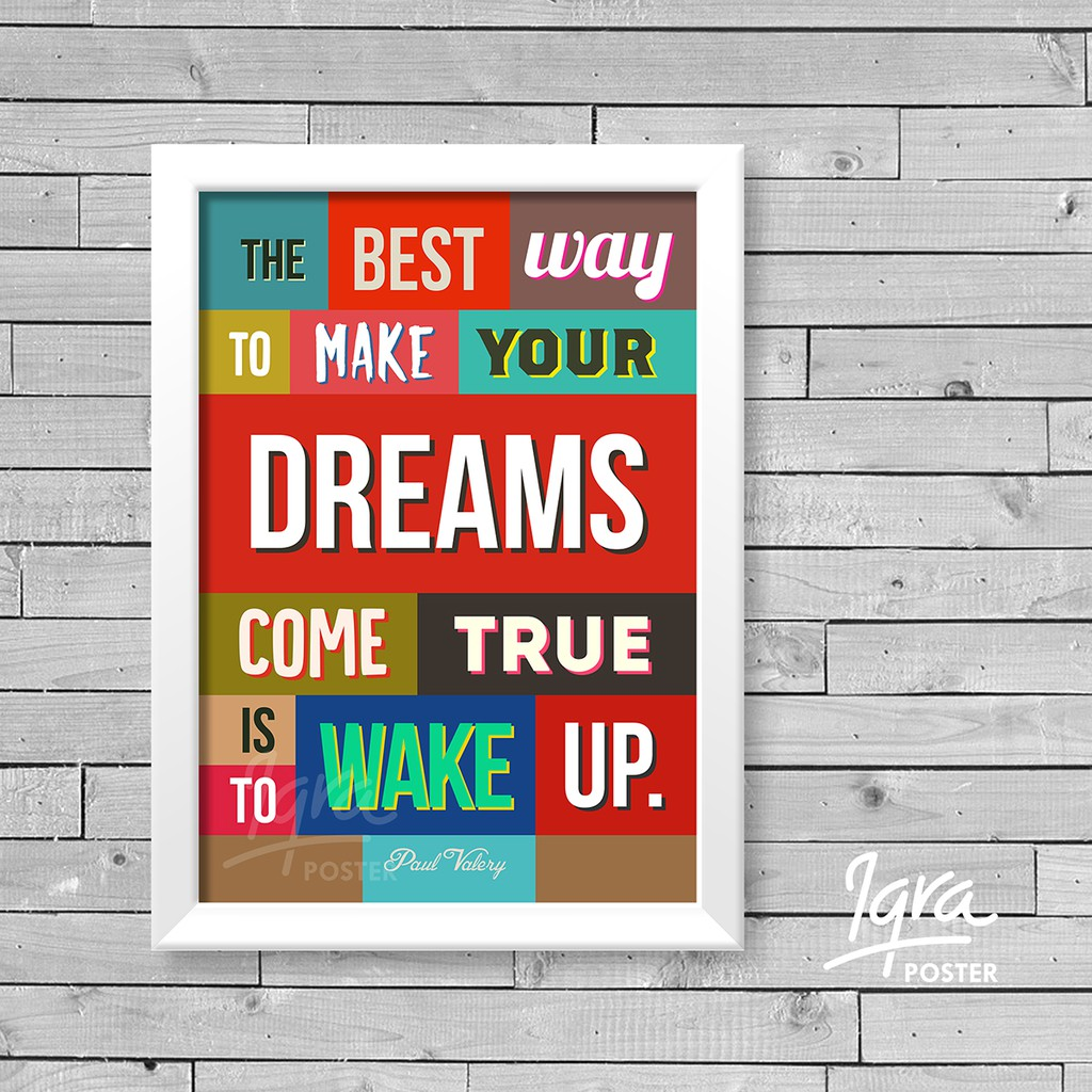 Poster Quote Motivasi - Never Ever Give Up - Pigura Hiasan Dinding | Shopee Indonesia