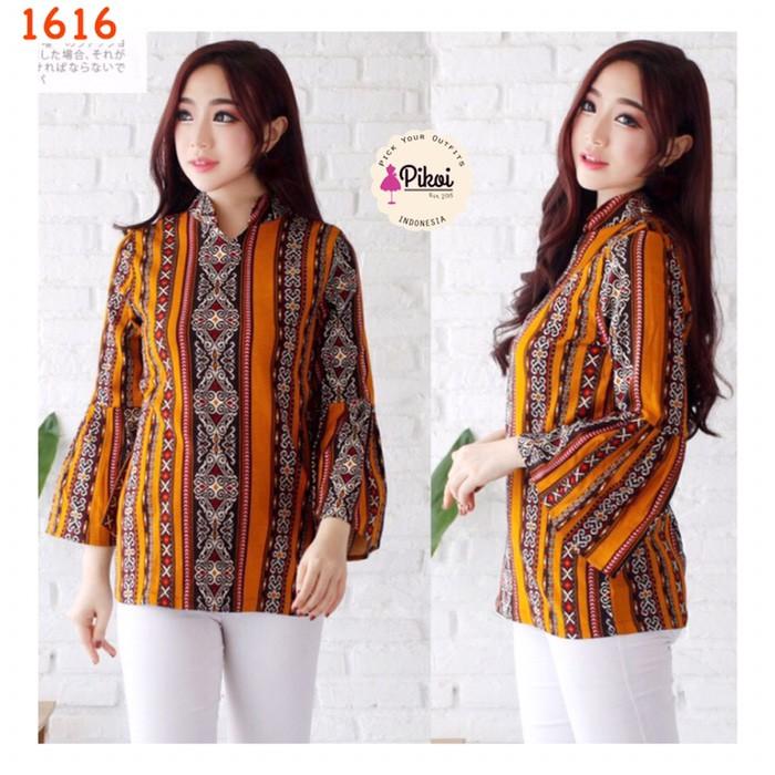 9900 Model Baju Batik Atasan Wanita Lengan Panjang Modern Gratis Terbaru