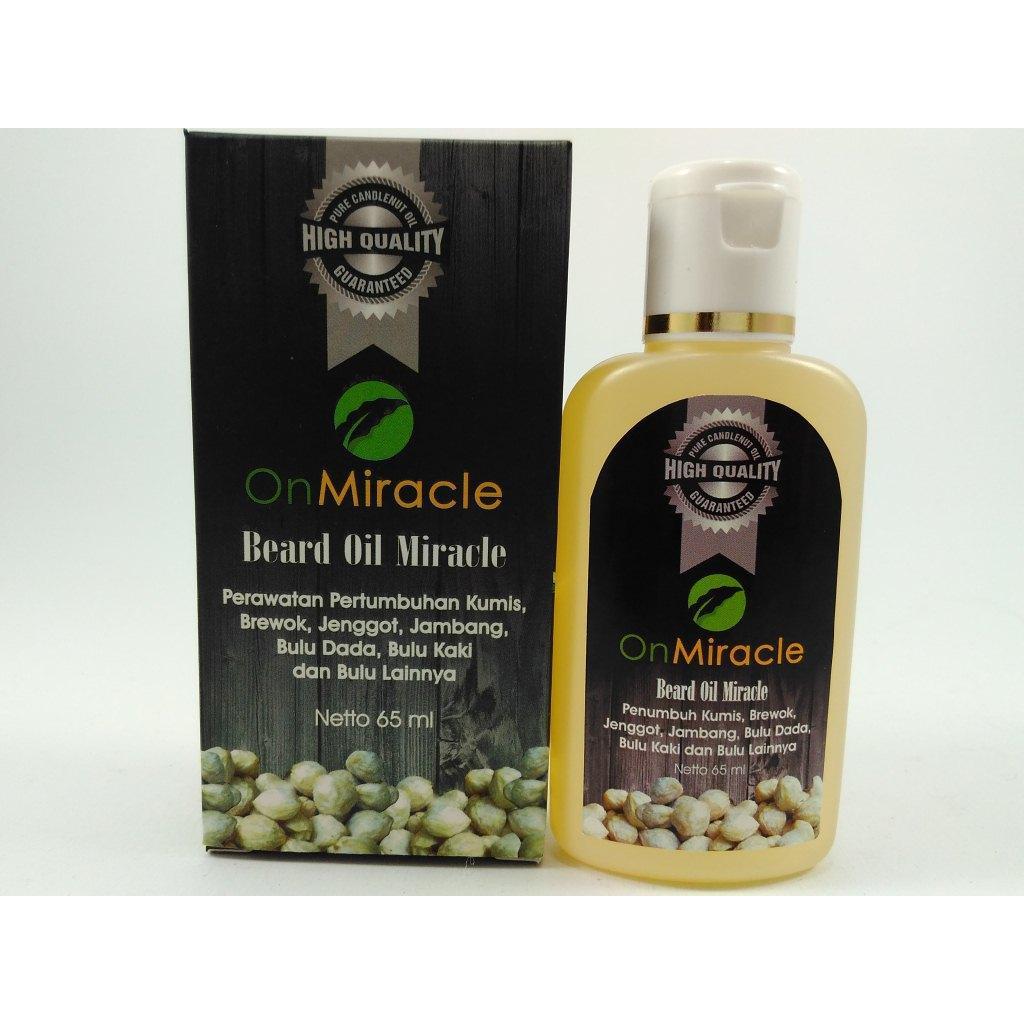 Minyak Penumbuh Jenggot Jambang Kumis Brewok Bulu Dada Beard Oil Miracle | Shopee Indonesia