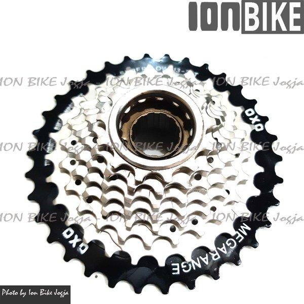 gear freewheel sprocket 8 speed 13-34T megarange OXO Drat Ulir - sprocket 8sp 13 - 34 T drat