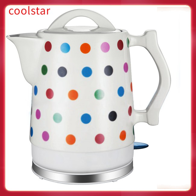 1.5l Electric Ceramic Tea Kettle With  Electric Kettle Boil Dry Protection