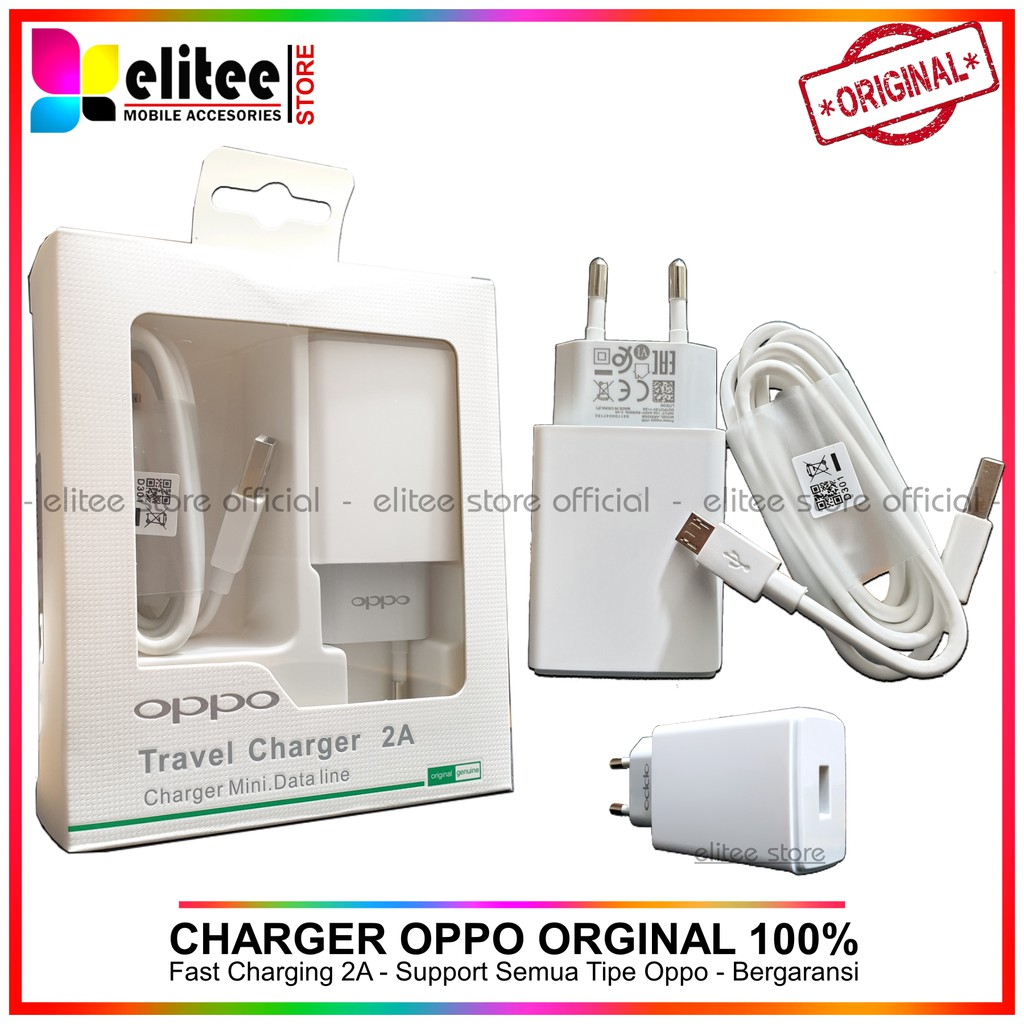 Oppo Travel Charger 2A 10w AK903 Original 100% OPPO A37 A39 A71 | Shopee Indonesia