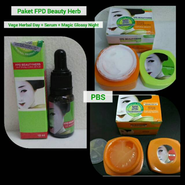 PAKET FPD BEAUTY HERB VEGE HERBAL DAY CREAM + SERUM + MAGIC GLOSSY NIGHT | Shopee Indonesia
