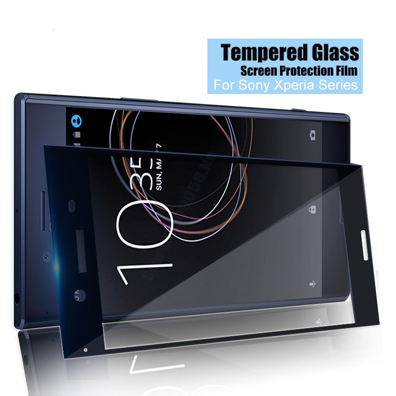 For Sony Xperia X Full Cover Screen Protector Tempered Glass Film For X Compact   Shopee Indonesia
