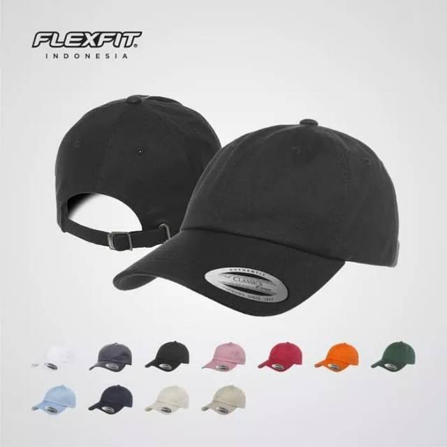 Topi Snapback Flexfit 6245CM Low Profile Cotton Twill Da a4c927bc27