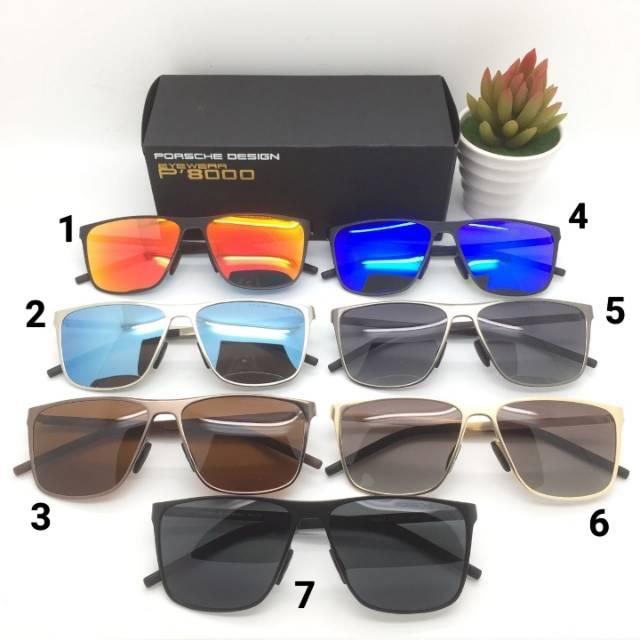 5fb327c6a352 Kacamata Porsche Design 8461 Polarized Pria Premium Fullset Sunglass Cowok  Sunglasses Keren Eyewear
